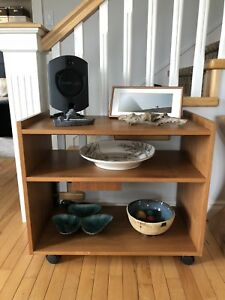 Teak End Table - Cart - Shelf