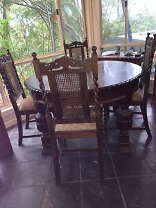 Wanted: Antique Jacobean round dining table w/ 4 chairs