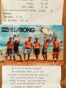 Gift card - Billabong