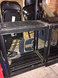 Black storage shelving for sale.