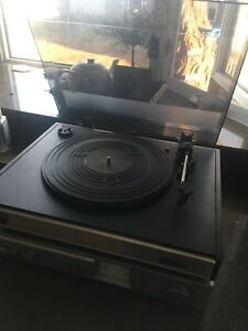 Vintage turntable and receiver
