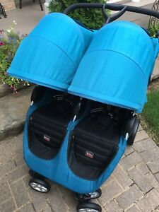 Beautiful teal Britax side by side stroller