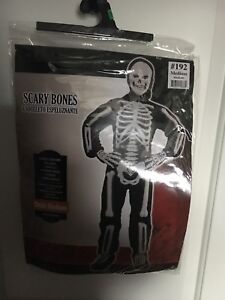 HALLOWEEN Youth Skeleton costume -LIKE NEW!