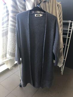 Women's charcoal 3/4 Sleeve Cardigan Jacket Size M