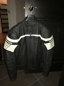 Dainese leather motorcycle coat