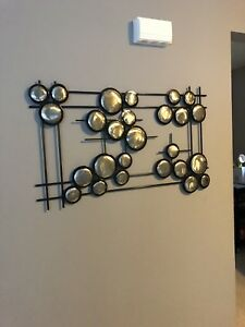 Wall Art Home Decor Chrome Circles