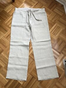 Men's 100% linen summer pants