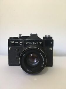 Vintage Zenit 12XP Film Camera with Helios 44M 55mm f2 Lens