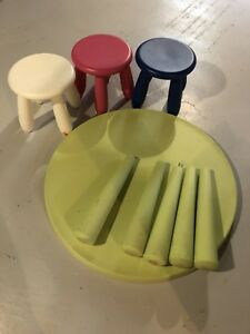 Ikea kids table and stools