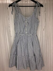 Blue and White Pin Stripe Forever New Dress Size 10