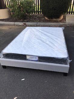 Brand new bed base frame with medium firm mattress D$280 Queen$320