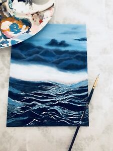 Acrylic painting, Hand painting, water painting, sea painting
