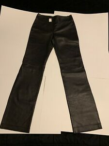 Designer lambskin leather pants size 8