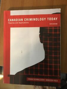 Canadian criminology today textbook