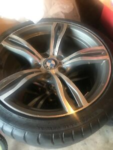 4 BMW rims white 235/40/18 champiro tires
