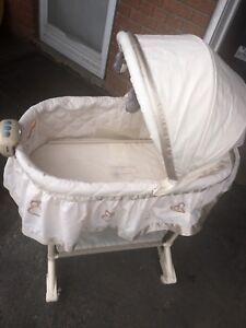 Baby white bassinet