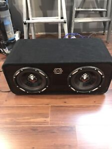 "2 10"" subwoofers in bassworx box"