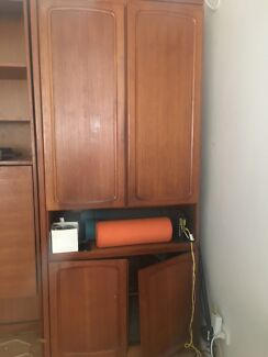 Cupboard & fold out table