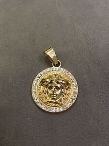 Versace 18k gold finished pendent