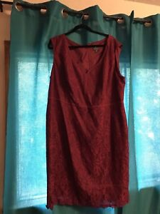Plus Size 24 Red/Maroon Dress