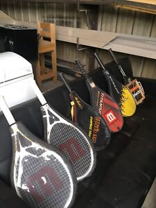Six tennis rackets