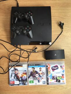 Playstation 3 PS3 + 2 games, 2 controllers, and PS3 PlayTV $200 ONO