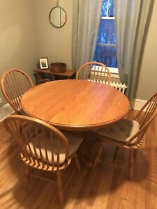 Solid Oak Dining Table + 4 Chairs from Wheaton's