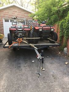 2 ATVs and trailer for sale