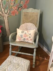 Beautiful painted rocking chair