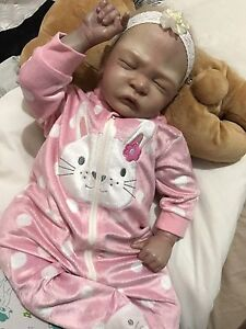 "SOLD Reborn Baby Girl 22"" Lifelike Doll! Docklands Melbourne City Preview"