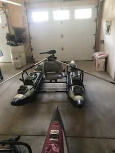 Colorado inflatable fishing boat with motor and battery