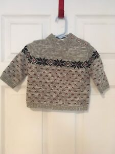 Roots Baby clothes, size 3-6 mo sweater EUC $12