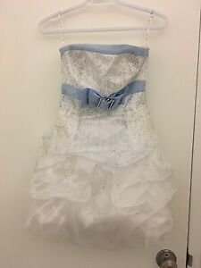 White and light blue sparkly dress