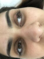 Lash lift and tint and eyelash extensions