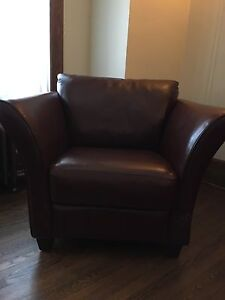 Leather Sofa with two chairs