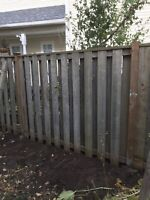 FENCE AND FENCE POSTS REBUILD AND/OR REPAIR