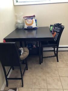 Solid Bar Height Table
