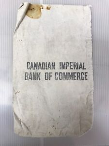 CIBC Canvas Cloth Bank Deposit Bag #2