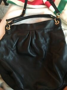 Marc Jacobs classic Q Hillier Hobo black leather purse