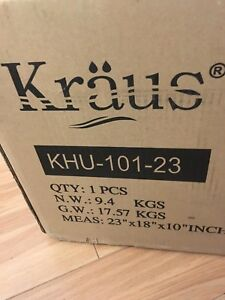 Kraus KHU101-23 undermount sink.