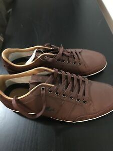 Lacoste men's brown sneakers