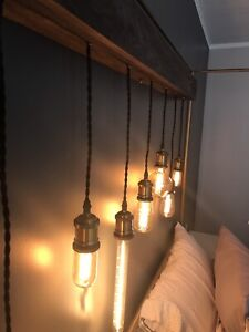 Custom Edison bulb light fixture