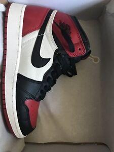 5.5Y or women's 7 Jordan Bred Toe 1s
