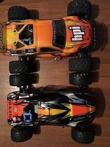 Hpi MT2 firestorm 1/10 4x4 osmax .18 both cars 250