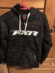 FXR Women's Sweater Zip Up with Fur NEW Size Small $50 OBO