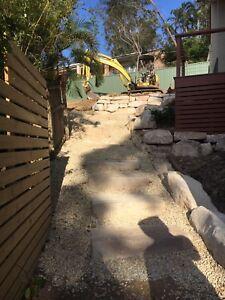 Excavator Tipper Hire Truck & Dog Hire Rock Walls  Drainage Gold Coast