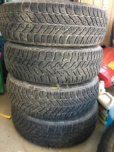 Goodyear ultra grip winter tires and rims  225-65R17