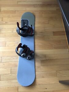 Children's snowboard and snowboard boots