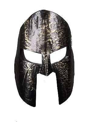 Knight's Helmet Black & Gold Midieval Helmet Midieval Warrior Helmet Greek - Metal Knight Kostüm