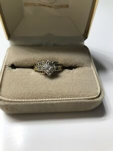 Ladies diamond Ring & Bands - Sz 5